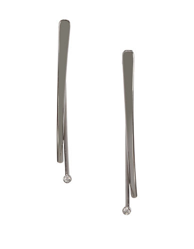 Bcbgeneration Silvertone Front-Back Earrings-SILVER-One Size