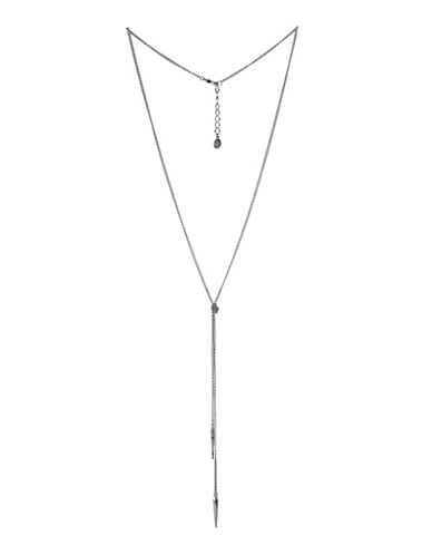 Bcbgeneration Silvertone Spike Pendant Necklace-SILVER-One Size