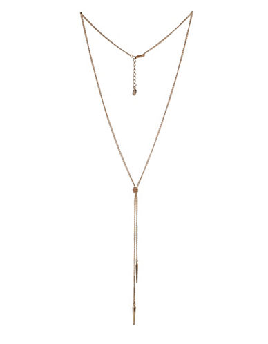 Bcbgeneration Replenishment Goldplated Spike Y-Necklace-ROSE GOLD-One Size