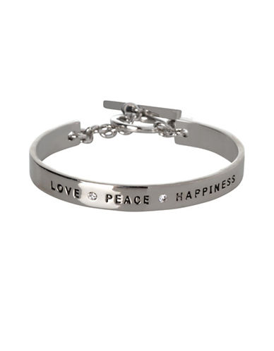Bcbgeneration Love Peace Happiness Bracelet-SILVER-One Size
