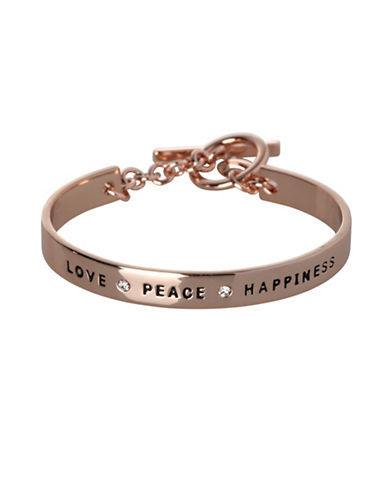 Bcbgeneration Love Peace Happiness Bracelet-ROSE GOLD-One Size