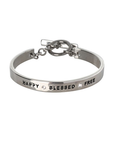 Bcbgeneration Happy Blessed Free Bracelet-SILVER-One Size