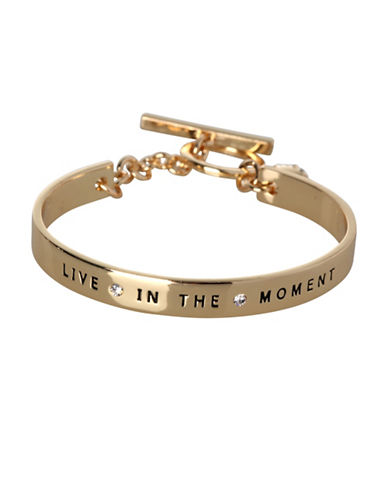 Bcbgeneration Basic Replenishment Goldtone Live In The Moment Bracelet-GOLD-One Size