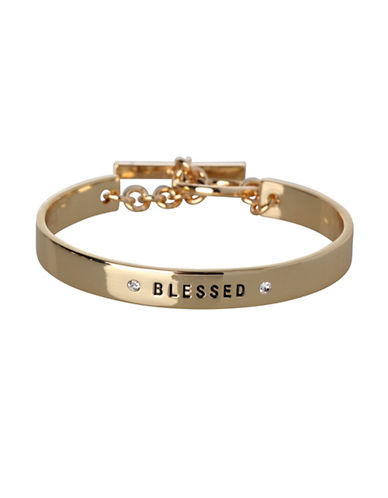 Bcbgeneration Blessed Embellished Bracelet-GOLD-One Size