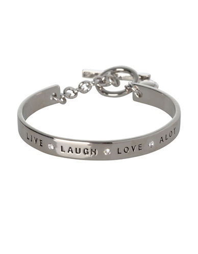 Bcbgeneration Live Laugh Love A Lot Bracelet-SILVER-One Size