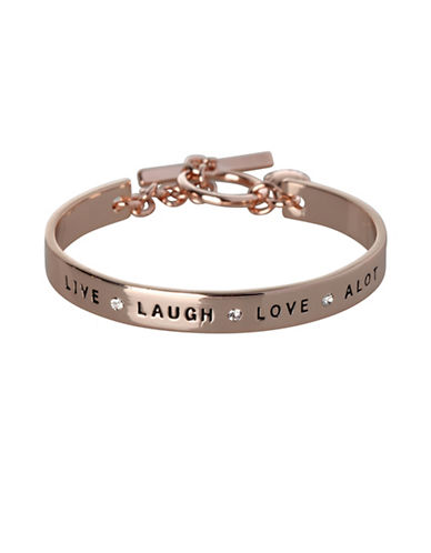 Bcbgeneration Live Laugh Love A Lot Bracelet-ROSE GOLD-One Size