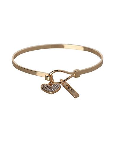 Bcbgeneration Heart Charm Goldplated Bracelet-GOLD-One Size
