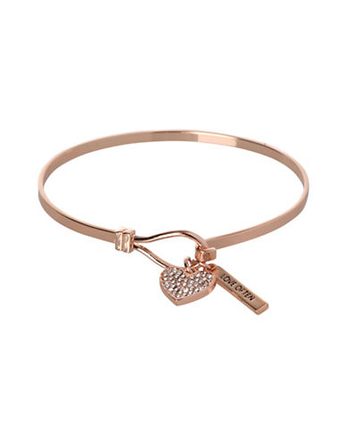 Bcbgeneration Heart Charm Bracelet-ROSE GOLD-One Size