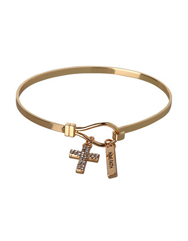 Bcbgeneration Cross Charm Bracelet-GOLD-One Size