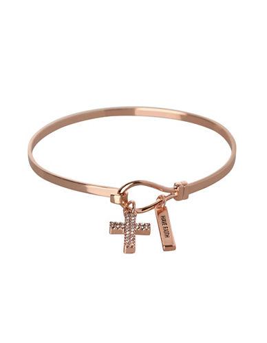 Bcbgeneration Cross Charm Bracelet-ROSE GOLD-One Size