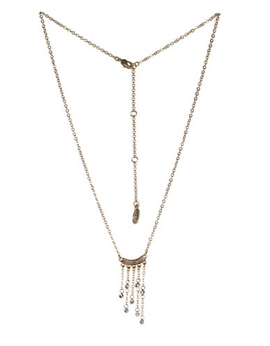 Bcbgeneration Fringed Chain Necklace-GOLD-One Size