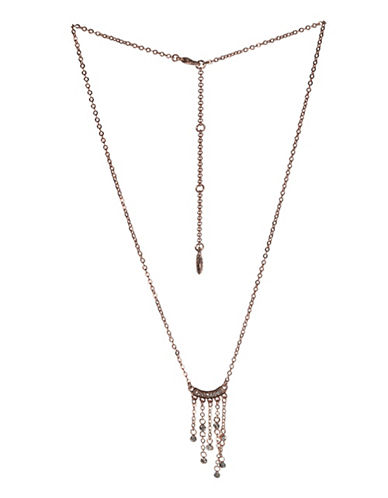 Bcbgeneration Rose Goldtone Fringed Chain Necklace-ROSE GOLD-One Size