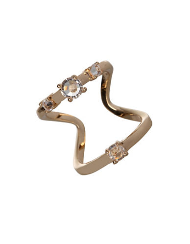 Bcbgeneration Openwork Two-Row Ring-GOLD-7