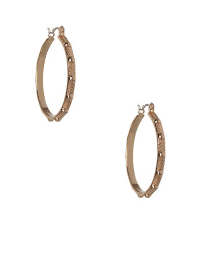 Bcbgeneration Nail Head Hoop Earrings-GOLD-One Size