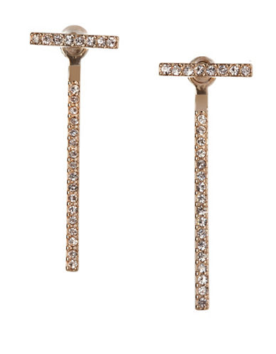 Bcbgeneration Bar Long Front-to-Back Earrings-GOLD-One Size