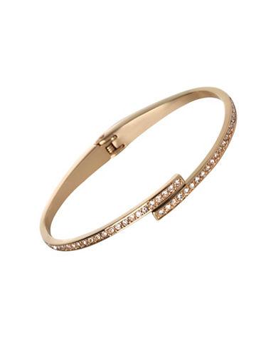 Bcbgeneration Bar Hinged Bracelet-GOLD-One Size