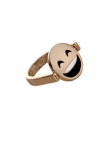 Bcbgeneration Emoji Flip Ring Set-GOLD-7