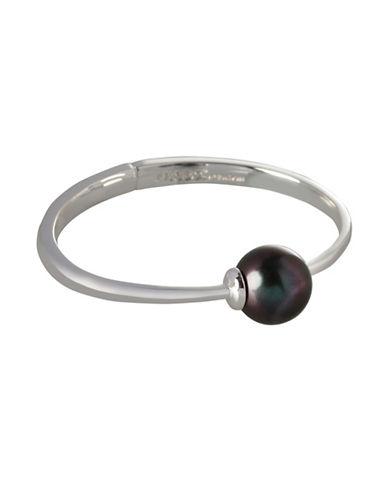 Bcbgeneration Round Glass Black Pearl Bracelet-SILVER-One Size