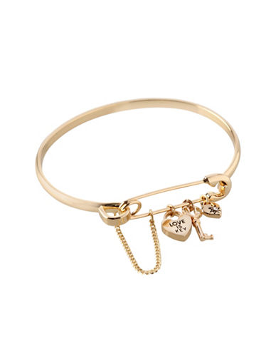 Bcbgeneration Affirmation Charm Bangle Bracelet-GOLD-One Size