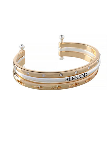 Bcbgeneration Affirmation Blessed Cuff Bracelet-TWO TONE-One Size