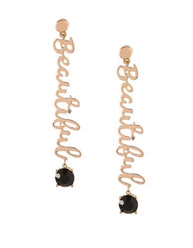 Bcbgeneration Affirmation Beautiful Drop Earrings-BLACK-One Size