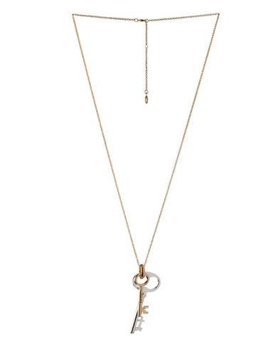 Bcbgeneration Affirmation Faith and Key Pendant Necklace-TWO TONE-One Size
