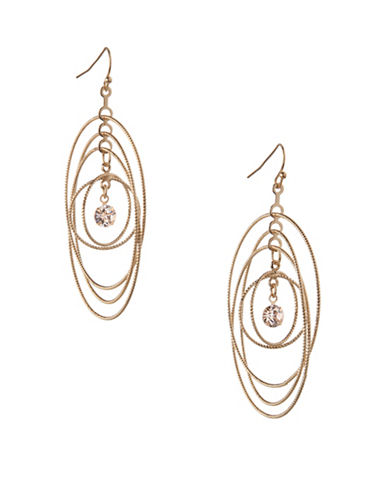 Bcbgeneration Orbital Goldtone Multi-Circle Drop Earrings-GOLD-One Size