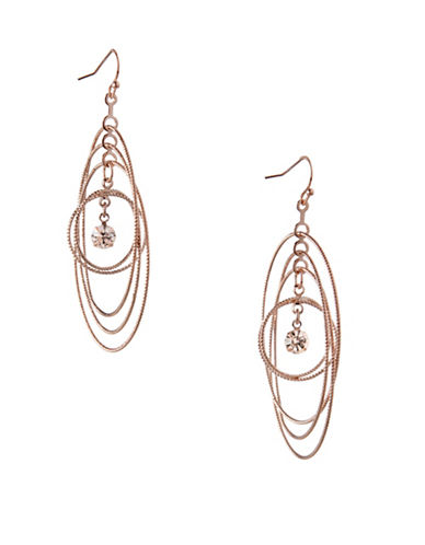 Bcbgeneration Orbital Rose Goldtone Multi-Circle Drop Earrings-ROSE GOLD-One Size