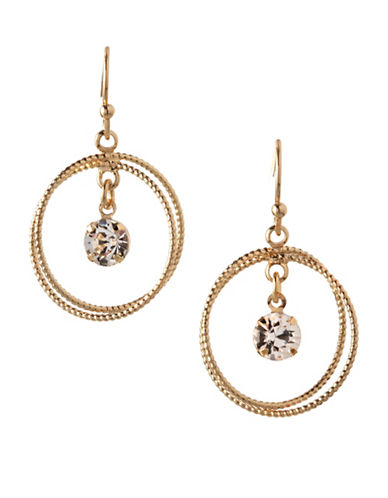 Bcbgeneration Orbital Double Circle Drop Earrings-GOLD-One Size