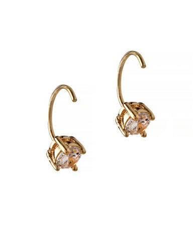 Bcbgeneration Orbital Goldtone Threader Hoop Earrings-GOLD-One Size