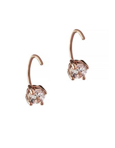 Bcbgeneration Orbital Rose Goldtone Threader Hoop Earrings-ROSE GOLD-One Size