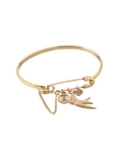 Bcbgeneration Affirmation Charm Bangle Bracelet-GOLD-One Size