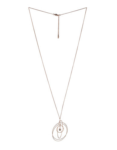 Bcbgeneration Orbital Rose Goldtone Multi-Circle Pendant Necklace-ROSE GOLD-One Size