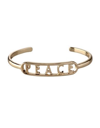 Bcbgeneration Affirmation Peace Cuff Bracelet-GOLD-One Size