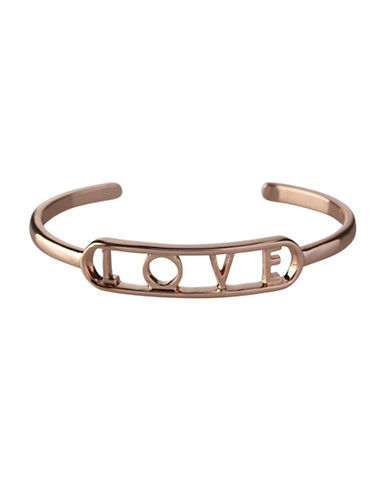Bcbgeneration Affirmation Love Cuff Bracelet-ROSE GOLD-One Size