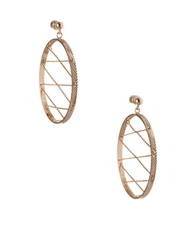 Bcbgeneration In Chains Crystal Interior Chain Drop Earrings-GOLD-One Size