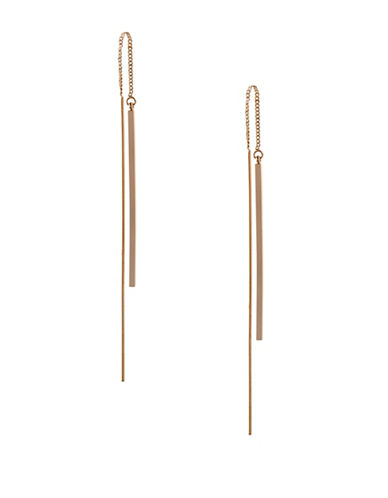 Bcbgeneration In Chains Threader Drop Earrings-GOLD-One Size