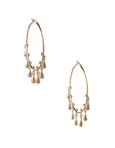 Bcbgeneration Goldtone Teardrop Hoop Earrings-GOLD-One Size