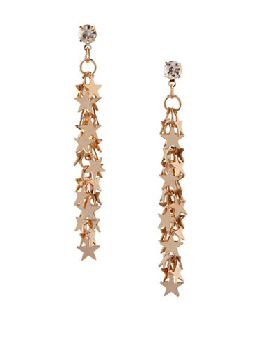 Bcbgeneration 12K Yellow Gold Star Cluster Drop Earrings-WHITE-One Size