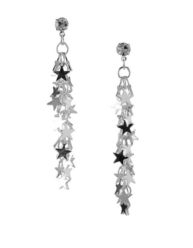 Bcbgeneration Star Cluster Drop Earrings-SILVER-One Size