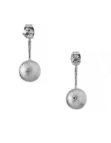 Bcbgeneration Silvertone Crystal Stud Drop Earrings-SILVER-One Size
