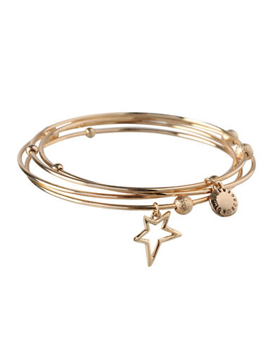 Bcbgeneration Four-Piece 12K Yellow Gold Charm Bangles-GOLD-One Size