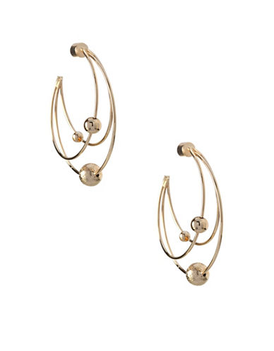 Bcbgeneration 12K Yellow Gold Orbit Hoop Earrings-GOLD-One Size