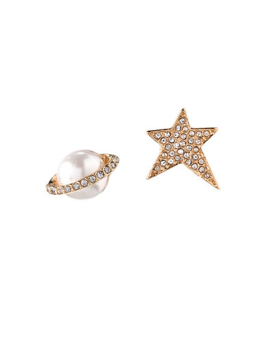 Bcbgeneration 12K Yellow Gold Planet & Star Mismatched Stud Earrings-ASSORTED-One Size