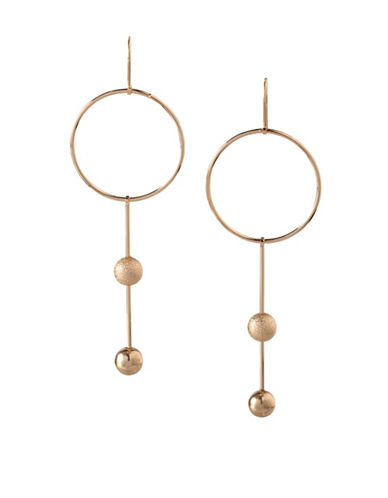 Bcbgeneration 12K Yellow Gold Circle Drop Earrings-GOLD-One Size
