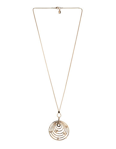 Bcbgeneration 12K Yellow Gold Crystal Star Pendant Necklace-WHITE-One Size