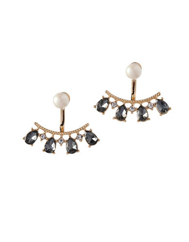 Bcbgeneration Faux Pearl and Crystal Earrings-ASSORTED-One Size