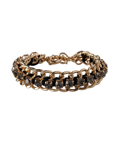 Bcbgeneration Multi-Stone Chain Bracelet-BLACK-One Size