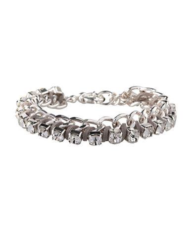 Bcbgeneration Multi-Stone Chain Bracelet-SILVER-One Size