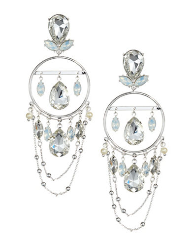 Bcbgeneration 12k Goldplated Silver Chandelier Statement Earrings-SILVER-One Size